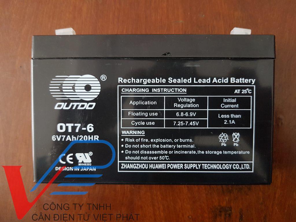 Pin cho cân điện tử các loại 4v,6v