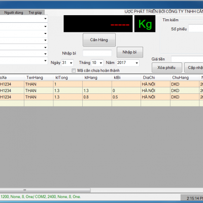 Phần mềm quản lý cân điện tử VPS
